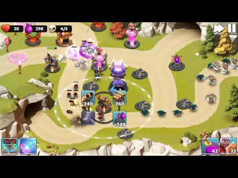 Castle Creeps TD - Chapter 15 Level 57-Cavern Creeps 3 Stars