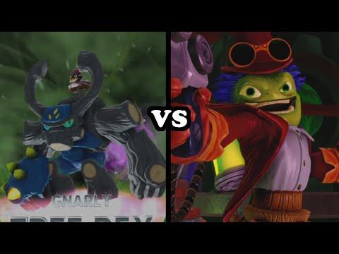 Skylanders Trap Team - Gnarly Tree Rex VS Dr. Krankcase