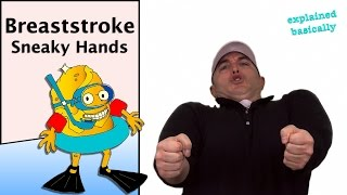 Breaststroke Swim Technique Lesson Nugget (Sneaking the hands forward) #swimlesson #breaststroke
