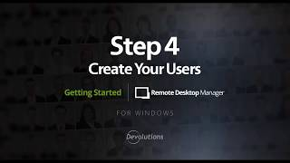 RDM - Step 4: Create your Users