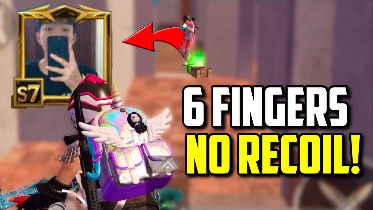 SIX FINGER claw player with NO RECOIL!? (no hacks) | PUBG Mobile