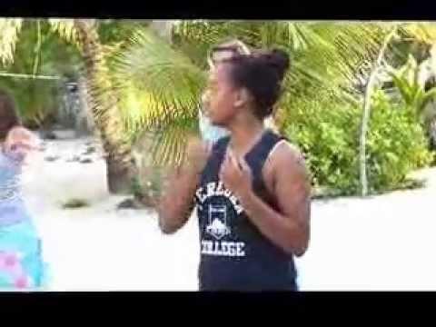Picton Castle Girls learn a Polynesian dance on Palmerston Island