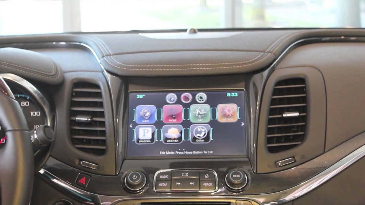How To Arrange The App Icons On The Chevy Mylink Radio