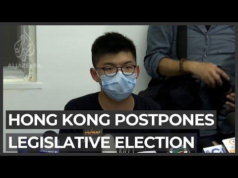 Hong Kong postpones legislative election citing coronavirus surge