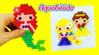 Aquabeads Принцеси Діснея Рапунцель, Аріель і Белль. Ігровий набір Аква Бидс. Вироби для дітей