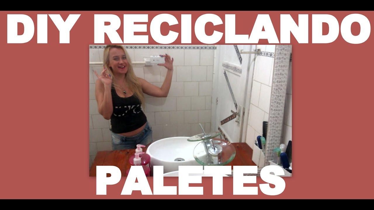 COMO RECICLAR PALETES ? bancada de banheiro feita com paletes  #834138 3000x1516