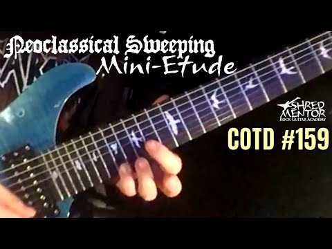 Neoclassical Sweeping Mini-Etude | ShredMentor Challenge of the Day #159