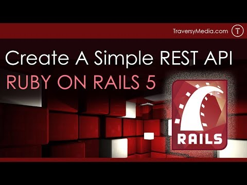 Simple Ruby on Rails 5 REST API From Scratch