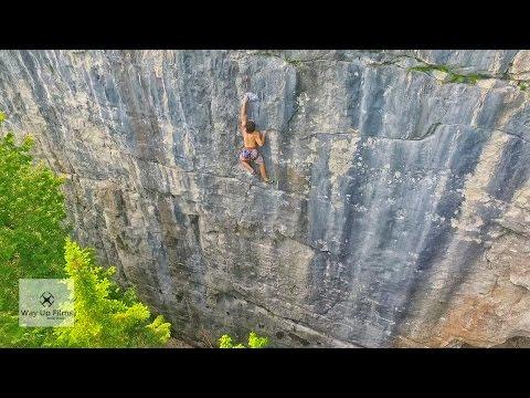 Drone Flight - Rock Climbing at Devil's Glen, Ontario