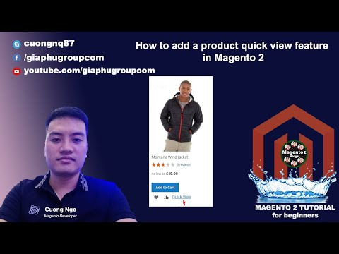 How to add a product quick view feature in Magento 2