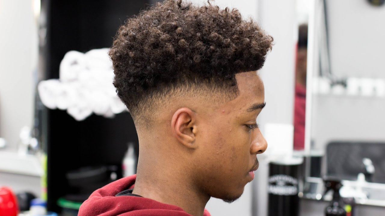 How To Cut A Low Bald Fade With Curly Top Barberjdub