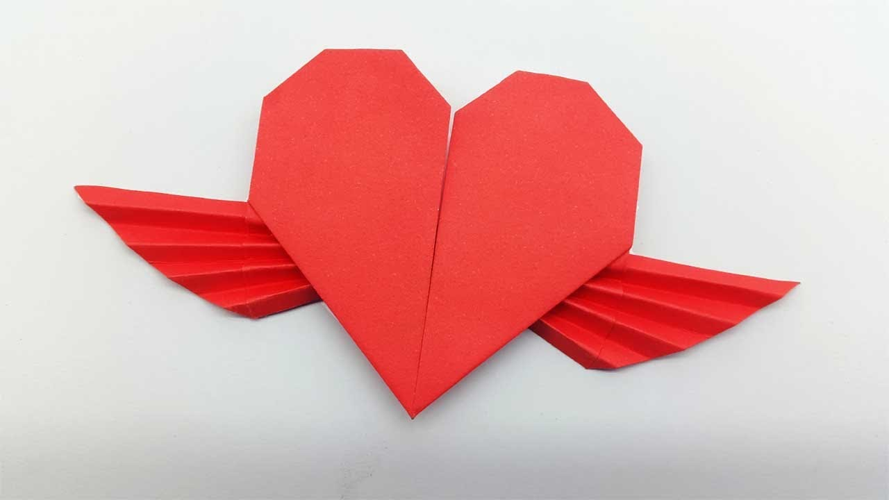 Step By Step Instructions How To Make Origami A Heart With Wings ... | 720x1280