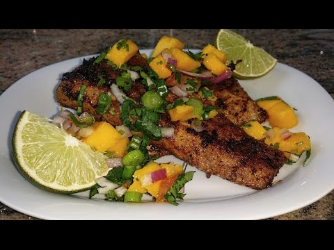 Pan Fried Fish Mahi Mahi Fillets With Mango Salsa | Punjabi Style Fish Recipe