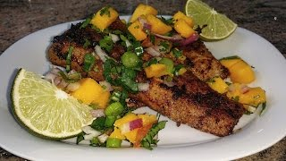 Pan Fried Fish Mahi Mahi Fillets With Mango Salsa | Punjabi Style Fish Recipe