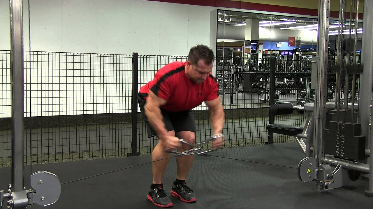 Bent Over Cable Crossover Rear Delt Fly - YouTube