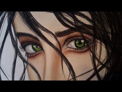 Resultado de imagem para green eyes painting