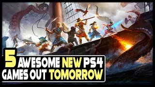 5 Awesome New PS4 Games Out TOMORROW - BIG RPG, Open World Game + More!