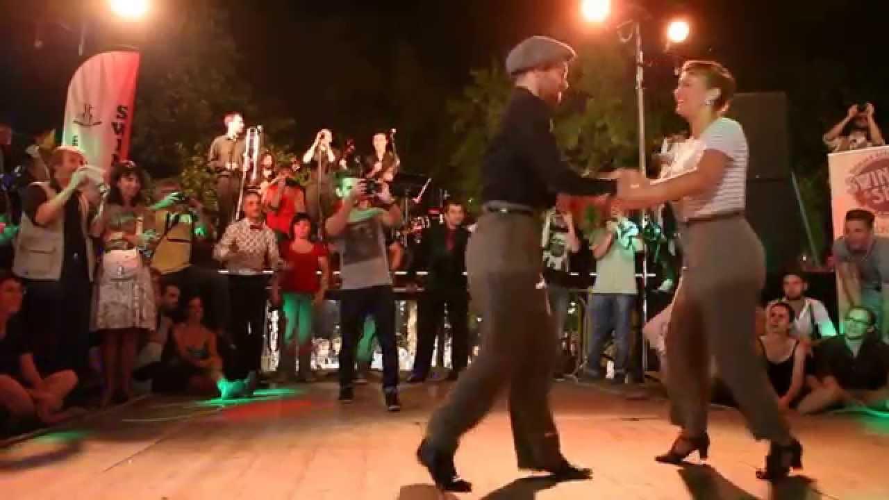 William & Maeva à Tours avec les Swing Shouters