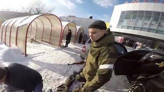 Задержание ополченцев - вымогателей. Донецк. 03.12.2014 Новости Новороссии.