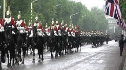 The Household Cavalry Regiment , Presentation of New Standards Parade on the Mall ,28th May 2014