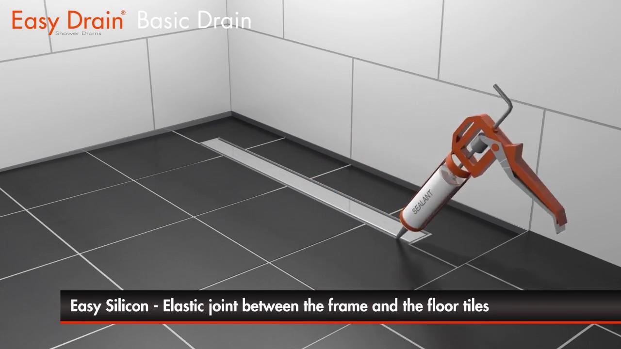 Linear shower drain installation - Easy Drain Basic Drain ...