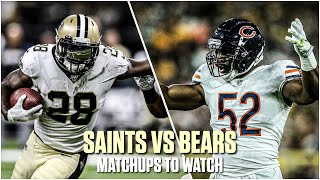New Orleans Saints VS Chicago Bears Key Matchups | NFL Week 7 Matchups to Watch