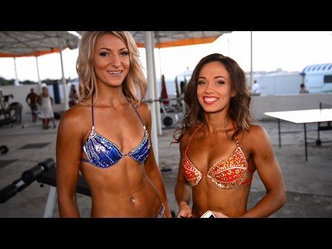 Летний кубок Черного моря 2015 по фитнес бикини. Марина Корниевская и Анна Сокол.