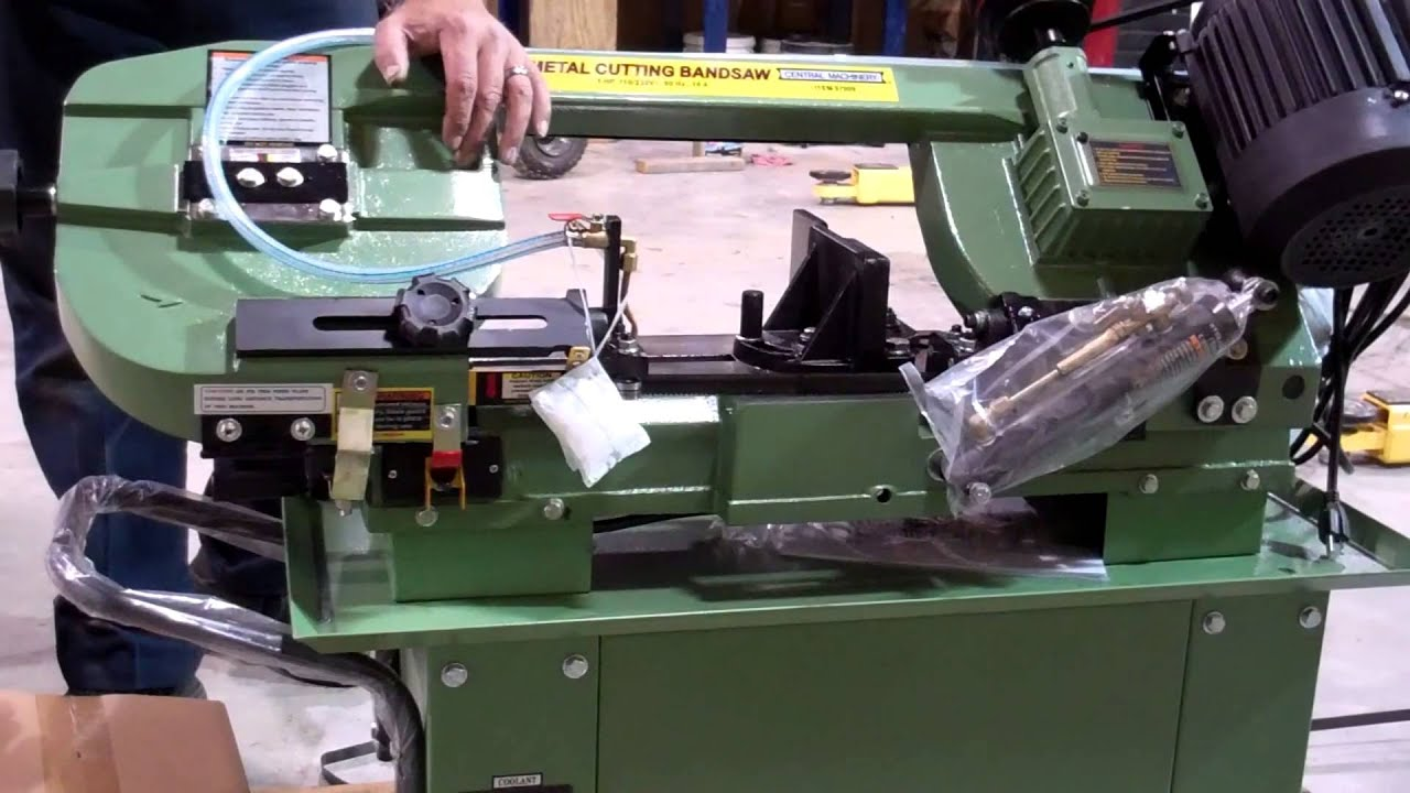 habor freight horizontal band saw unboxing youtube rh youtube com harbor freight bandsaw replacement parts harbor freight band saw manual32008