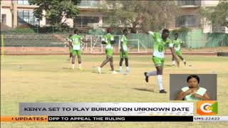 Harambee stars train ahead of CHAN qualifier