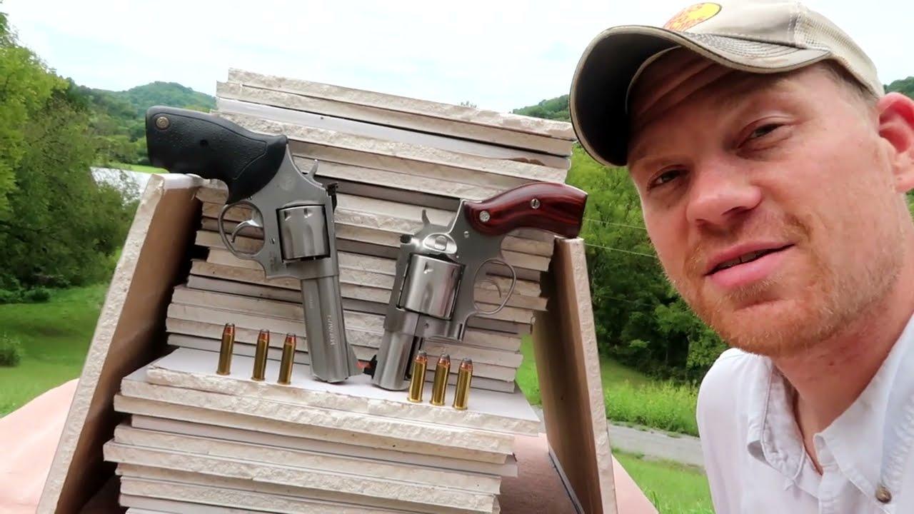 357 mag vs  44 mag - Drywall Test