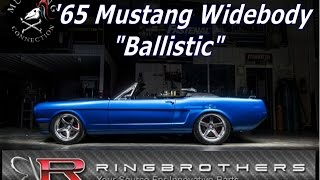 Ring Brothers#Ballistic Carbon Fiber Widebody 1965 Mustang Convertible GT500 Supercharged 5.8