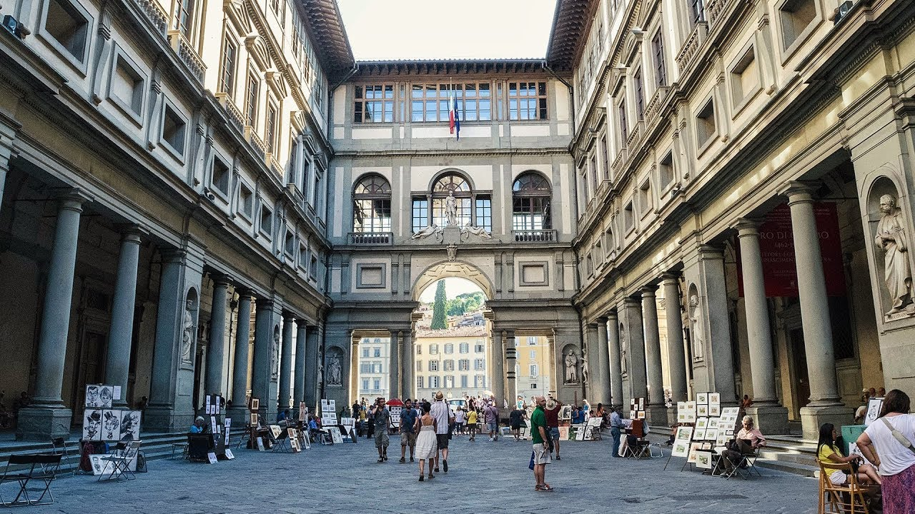 the uffizi gallery in florence  italy