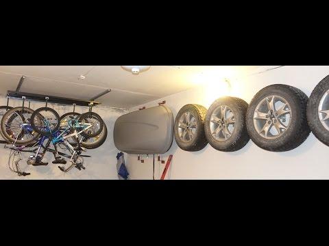 Сезонное хранение  шин колес и резины  в гараже используя стены экономя место  Быстро и дёшево