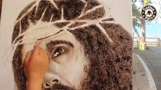 Civet Coffee Painting: How to Paint Jesus Christ by Coffee Artist ELLA HIPOLITO