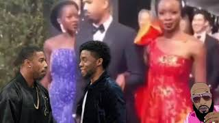 Michael B Jordan And Chadwick Boseman THROW HANDS After Argument At Golden Globe Security Stops It