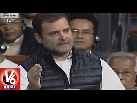 Rahul Gandhi Speech In Lok Sabha Over Rafale Deal Issue, Slams Modi | Parliament Session | V6 News