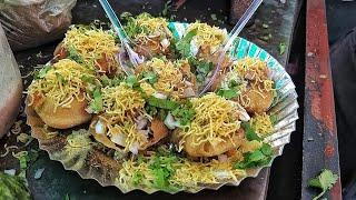 Yummiest Dahi Puri Ever | Dahi Puchka Making | Street Food India | Dahi Puri Street Food