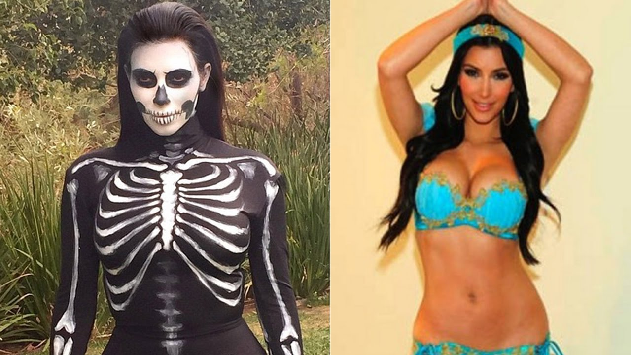 Kim Kardashian's 5 Hottest Halloween Costumes - YouTube