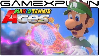 Mario Tennis Aces - Launch Trailer (Story Mode, Dark Luigi + Gameplay - Eng)