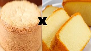 Qual é a diferença entre o pão-de-ló e outros bolos?