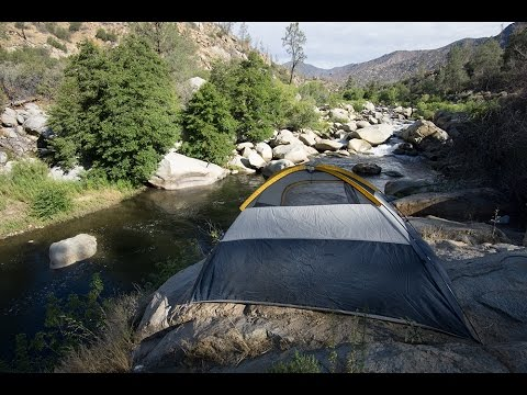 Camping along the peaceful Kern River near Kernville, California