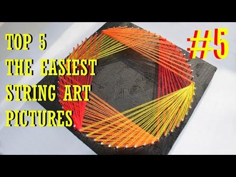 top-5-the-easiest-string-art-#5-|-hexagon-|-diy-tutorial