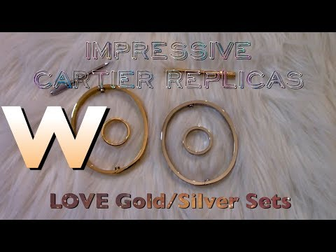CARTIER Love Bracelet & Ring Replicas | Under $73 for silver and gold set | Real vs FAKE | FASHION