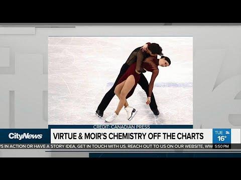 Social media lights up over chemistry between Virtue & Moir