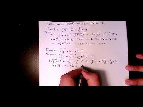 Square roots solving radical equations Practice 7 Algebra square, radicals