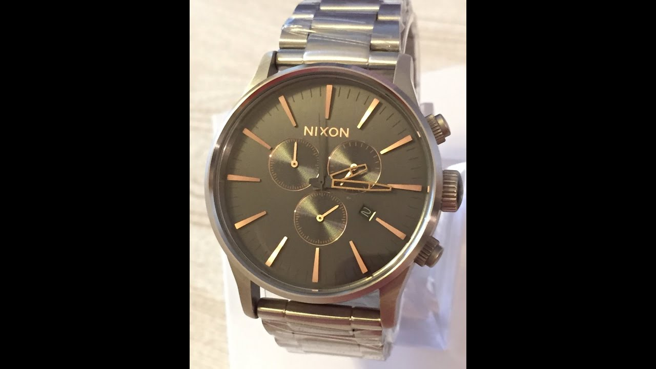 nixon watch a386 2064 sentry chrono gray rose gold mens a3862064 nixon watch a386 2064 sentry chrono gray rose gold mens a3862064 ニクソン ゠ントリー クロノ グレー ローズ ゴームド