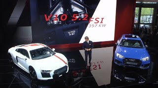 Audi R8 RWS & Audi RS4 Avant unveiled at the IAA 2017 - Press Conference