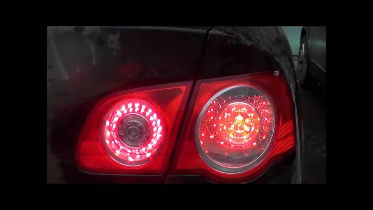 Установка светодиодных колец Passat B6