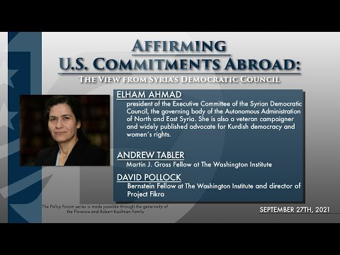 Original Audio PF: Affirming U.S. Commitments Abroad: The View from Syria's Democratic Council