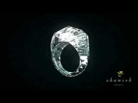 150 carat diamond ring made from 1 SOLID diamond